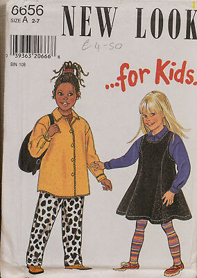 New Look Sewing Pattern Princess Seam Dress Jacket Trousers 2-7 UNCUT 6656 Girls
