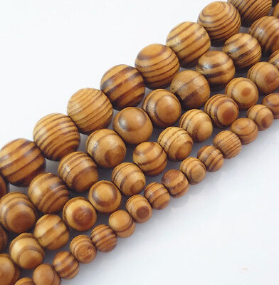 8,10,12,16,18mm Natural Wood Round Loose Spacer Beads Jewelry DIY Bracelet US 2H