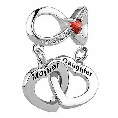 d0385363523e3 HEART MOTHER DAUGHTER Charm Use With Pandora Bracelet Mom Love You ...