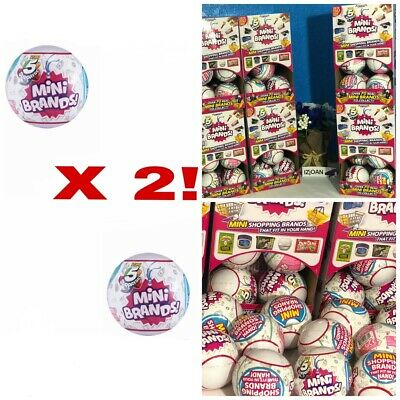 5 Surprise! Mini Brands - 2 Balls - By Zuru 100% Real Authentic New Fast Ship!!
