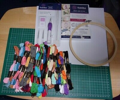 Threaders Companion Embroidery Punch Tool + extras