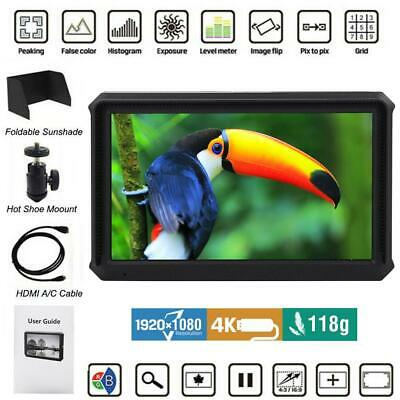 "Lilliput A5 5"" 1920x1080 8bit 4K HDMI DSLR Camera field monitor for F970/LP-E6"