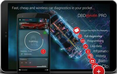 The Only OBD2 You Need OBDeleven PRO Audi VW Diagnostic  CAN VAS VCD VAG COM
