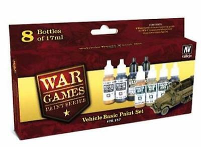 Vallejo Model Color WWII Wargames Vehicles Basic Acrylic Paint Set VAL 70157