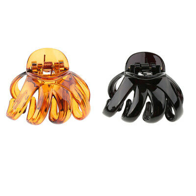 Large Grip for Thick Hair Octopus Plastic Hair Claw Clip Butterfly Bull Dog Design
