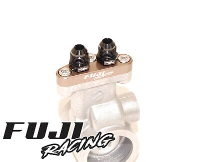 Fuji Racing Billet Impreza Spec C Oil Cooler Adaptor Plate & AN8 Fittings