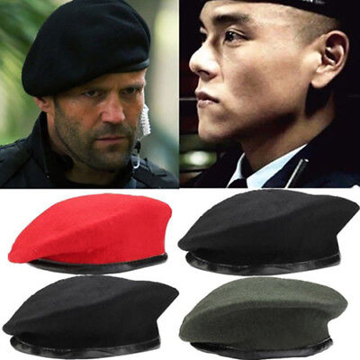 Mens Womens Military Army Style Soldier Hat Beret Uniform Adjustable Caps Unisex