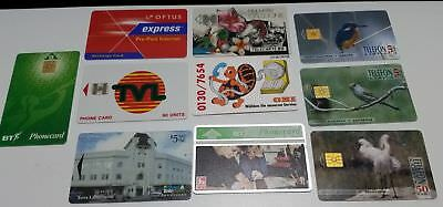 (LOT 2) 10 old used phonecards from around the world