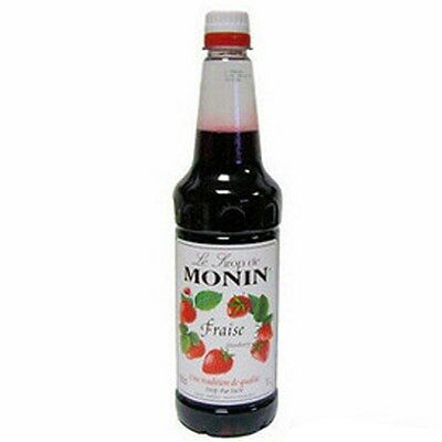 MONIN Coffee Syrup 1 Ltr STRAWBERRY - Great to add to milkshakes and ice cream!