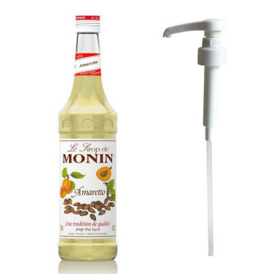 MONIN Coffee Syrup 70 CL AMARETTO and Pump