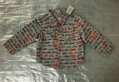 "Bnwt Baby Boy's "" Cath Kidson "" Multi-Coloured Cars Print Shirt - 6-12 Months !"