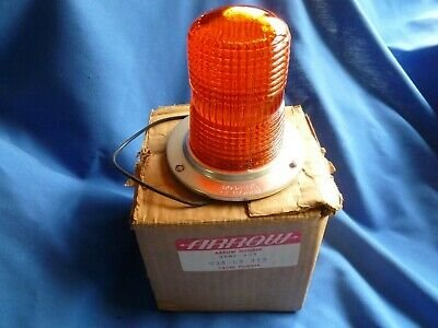 1960s STYLE GLASS AMBER EMERGENCY WARNING  LIGHT NEW IN BOX