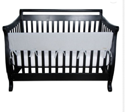 Wide Crib Wrap Rail Cover Trend Lab Gray Tie Attachments With Waterproof Backing