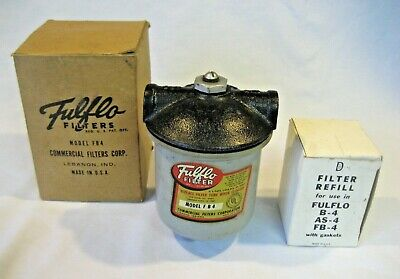 FULFLO FB4 Commercial Filter Housing Canister with 2 classic wound cord filters
