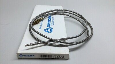 """Tri-Tronics 15683 Fiber Optic Cable 0.125"""" x 72"""" Threaded F-A-72T Stainless"""