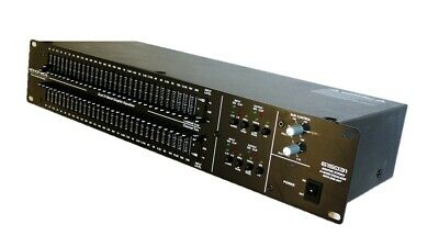 Monoprice Dual 31-Band Graphic Equalizer with Subwoofer Output 615031