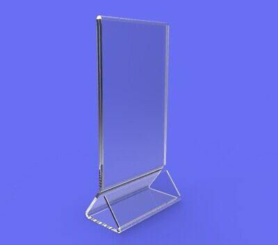 4-pack Clear Acrylic Plexi Table Tent Frame photo desert sign holder 11193-1