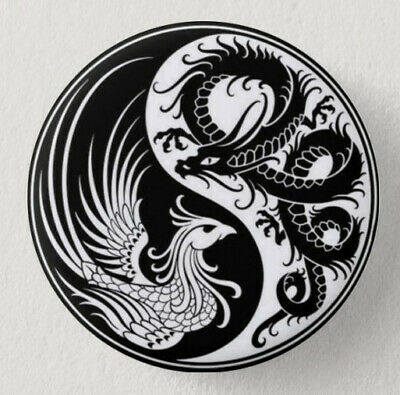☯ Pin Button Badge Ø38mm Yin Yang #1