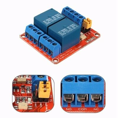 12V 2 Channel Relay Module With Optocoupler Support High Low Level Trigger For