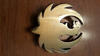 Belt Buckle Sturm Ruger Arms Co. Solid Brass Vintage 1970s Cut Out
