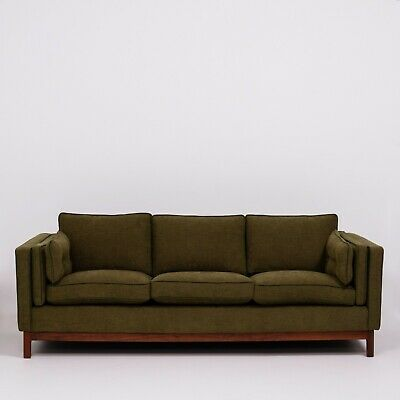 Mid-Century Green fabric 3-Seater Sofa by Folke Ohlsson for DUX