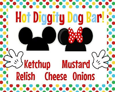 photo regarding Hot Diggity Dog Bar Free Printable named Very hot MICKEY MOUSE and Minnie Mascot Dress Grownup Dimensions Extravagant