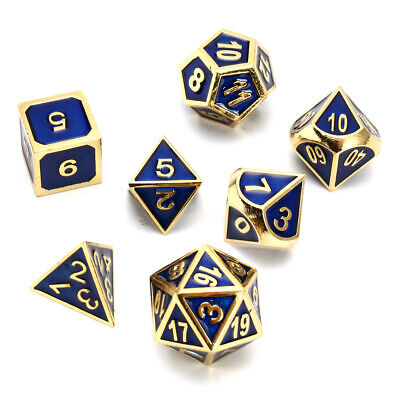 Antique Color Solid Metal Heavy Dice Set Polyhedral Dice Role Playing Games