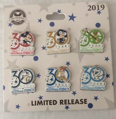 2019 Disney Parks Hollywood Studios 30th Anniversary 6 Pin Limited Release Set