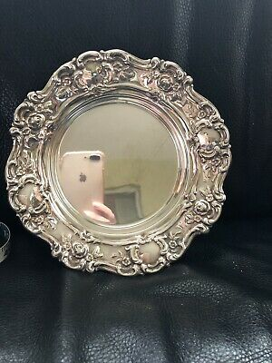 "Vintage Towle Old Master 7.5"" Round Bon Bon  Dish Plate Silver plate 4097 Bowl"