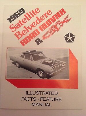1969 satellite belvedere road runner & plymouth gtx fact feature manual