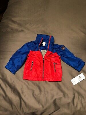Polo Ralph Lauren Blue Red Light Jacket Boys Sz 12 Months Nwt