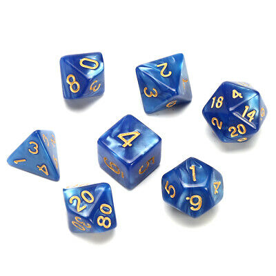 Polyhedral Dice Role Playing Games Dice RPG 7 Dice Set With Bag