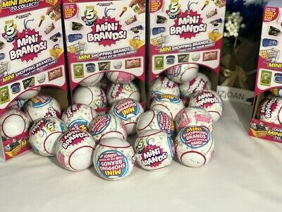 5 Surprise! Mini Brands - 1 Ball - By Zuru 100% Real Authentic New Fast Ship!!