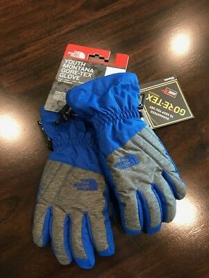 New North Face Youth Boys Montana Gore-Tex Ski Snow Gloves NWT MSRP $45.00
