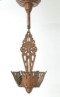 Art Deco Chandelier Fixture Holds 3 Shades Not Included Antique Ceiling Light