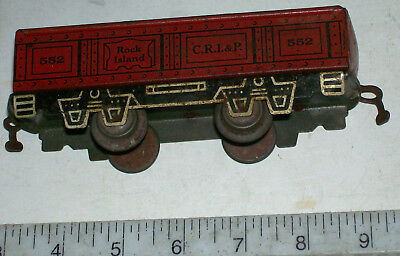 RARE MARX Early 6-inch Tin Litho Gondola 552 with Joy Line Couplers 1934 in O-27
