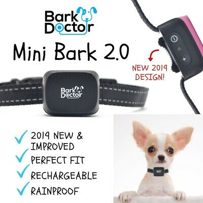 NEW 2019 Mini Bark,Collar for small dogs Chihuahuas Toy Poodles SOUND VIBRATION