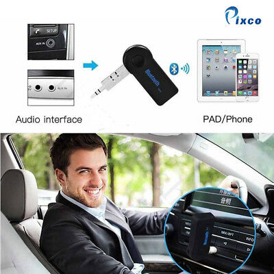 UK Wireless Bluetooth 3.0mm AUX Audio Stereo Music Car Receiver Adapter with Mic