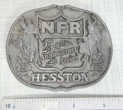 Hesston Nfr National Finals 25Th Anniversary 1983 Vintage Rodeo Belt Buckle