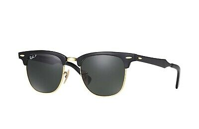 32ddacd49d New Ray Ban Clubmaster Aluminum RB3507 136 N5 Brushed Black w Green Polar  51mm