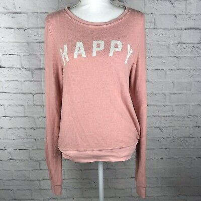 835c98592d Wildfox Womens Pink Size Small Long Sleeve