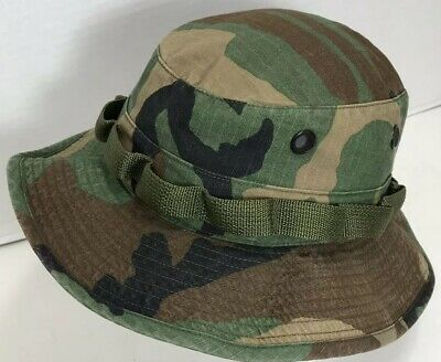 US Military Woodland Camouflage Boonie Sun Hat - Size 7