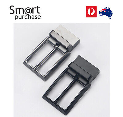 Stainless Steel Pin Buckle Leather Belt Waist Strap Snap On Replacement 35 mm w