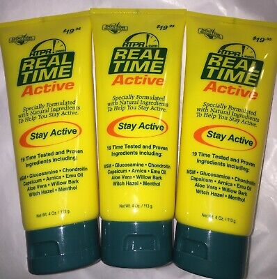 Real Time Relief (3 pack) Active Sports Cream 4 oz each STORES CLOSING!!!