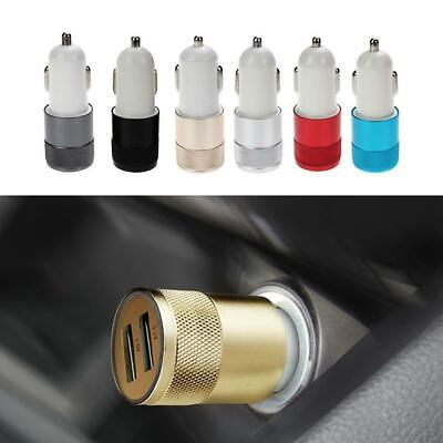 Dual USB Car Charger 2 Port Adapter For Smart Mobile Cell Phone Universal Fine ~