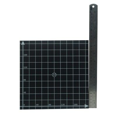 220*220mm Black Square Scrub Surface Hot Bed Platform Sticker Sheet With 1:1