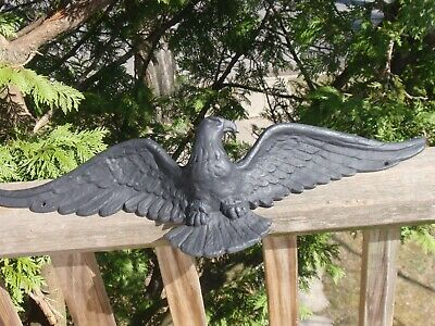 Vintage Cast Aluminum Or Iron Bald Eagle Outdoor Ornament Lawn Garden 19.75 Inch
