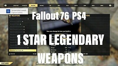 FALLOUT 76 (PS4 1 STAR WEAPONS) WORLDWIDE - PLEASE SEE DESCRIPTION