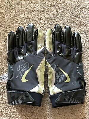 8d5a6495450 C.J. Fiedorowicz autographed game used salute to service gloves