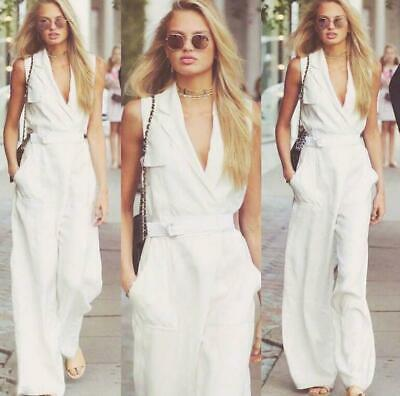 Women Long Elegant Summer Overalls Rompers Jumpsuits Pants Lady Cotton New Zsell